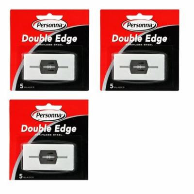 Personna Double Edge Blades Stainless Steel Refill Blades, 5 ct. (Pack of 3) + Schick Slim Twin ST for Sensitive Skin