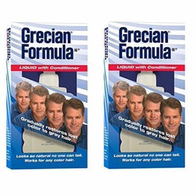 Grecian Formula Liquid with Conditioner, Gradually Restores Lost Color to Gray Hair, 4 Oz (Pack of 2)