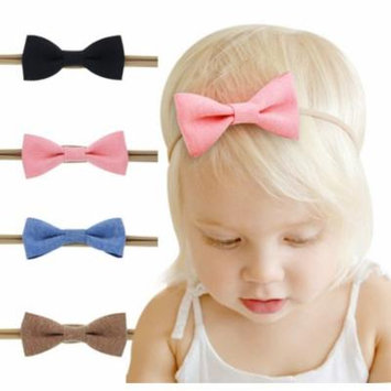4Pcs Cute Girl Toddler Flower Headband Hair Bow Band Accessories
