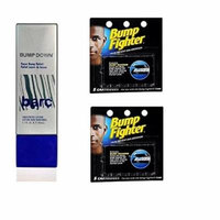 Barc Bump Down Razor Bump Relief, Alcohol-Free, Unscented Lotion, 1.7 Oz + Bump Fighter Cartridge Refill, 5 Ct (Pack of 2) + Old Spice Deadlock Spiking Glue, Travel Size, .84 Oz