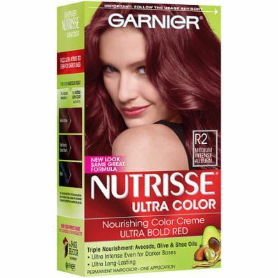 Garnier Nutrisse Ultra Color Permanent Haircolor R2 Medium Intense Auburn 1.0 ea(pack of 12)