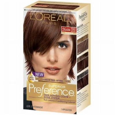 L'Oreal Paris Superior Preference Permanent Hair Color, Medium Amber Copper Brown 5 1/2 AM 1.0 ea(pack of 2)