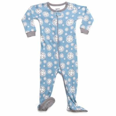 Leveret Organic Cotton Gears Footed Pajama Sleeper 2 Years