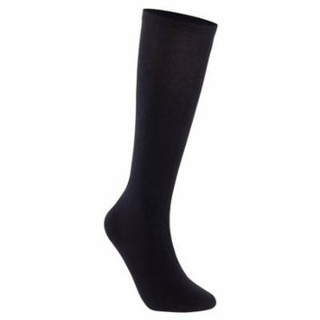Lian LifeStyle Unisex Children 4 Pairs High Crew Combed Cotton Socks Large (12Y-15Y) Black