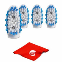 Go Smile Extra Brush Heads for the Sonic Blue Light Whitening Toothbrush GS727 (4-Pack)