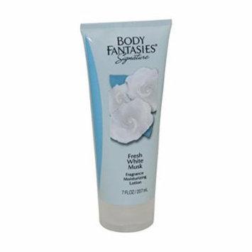 Parfums de Coeur Body Fantasies Signature Fresh White Musk Fragrance Moisturizing Lotion for Women, 7 Ounce
