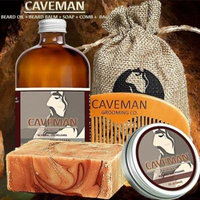 Caveman Beard Oil, Balm, Soap and Comb Kit - Leave in Conditioner Scent: Virgin Patchouli