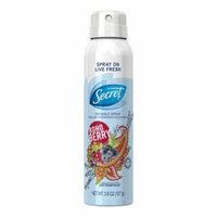 Secret Invisible Spray Antiperspirant and Deodorant, Boho Berry, 3.8 oz, 6 Pack