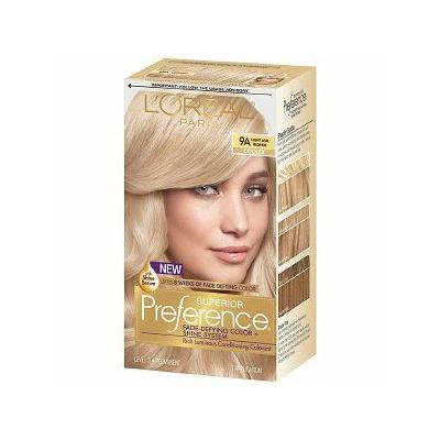 L'Oreal Paris Superior Preference Permanent Hair Color, Light Ash Blonde 9A 1.0 ea(pack of 2)