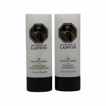 Les Notes de Lanvin Orange Ambre Shampoo & Conditioner Lot of 2(1 of Each)