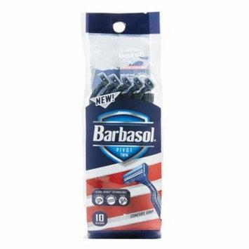 Barbasol Pivot Twin Razor Disposable, Twin Razor, 10 Ea, 6 Pack