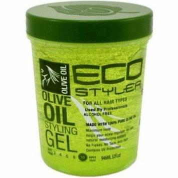 4 Pack - ECOCO Eco Style Gel, Olive 32 oz