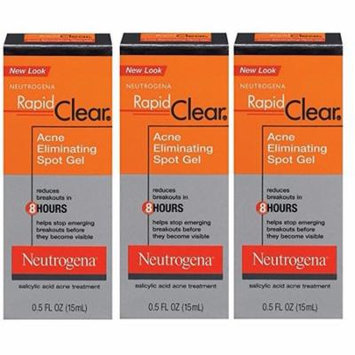 Neutrogena Rapid Clear Acne Eliminating Spot Gel, 0.5 Fl Oz (Pack of 3) + Beyond BodiHeat Patch, 1 Ct