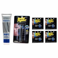 Barc Cutting Up, Unscented Shave Cream, 6 Oz + Bump Fighter Razor for Men + Bump Fighter Cartridge Refill, 5 Ct (Pack of 4) + Schick Slim Twin ST for Dry Skin