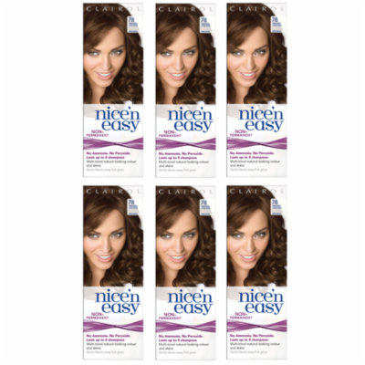 Clairol Nice n' Easy Hair Color #78 Medium Golden Brown (Pack of 6) UK Loving Care + Beyond BodiHeat Patch, 1 Ct