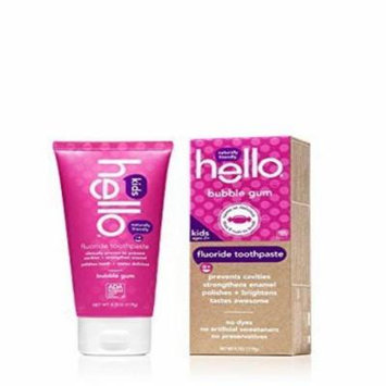 Hello Kids Toothpaste, Bubble Gum, 4.2 Oz by Hello Oral Care