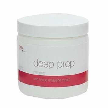 Fabrication Enterprises 13-3240 Deep Prep Complete Tissue Massage Cream, 15 oz Jar