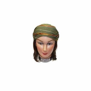 Spiral Embroidery Headbands / Head wrap / Yoga Headband / Head Sarf / Best Looking Head Band for Sports or Fashion, or Exercise (Dark Green)