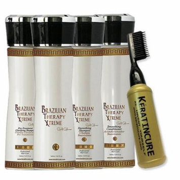 Brazilian Therapy BTX Keratin Cure Blowout Blonde Hair Treatment 5 oz 6 piece Kit 160 ML