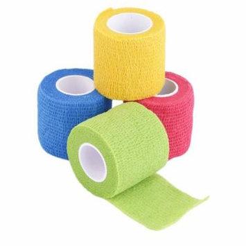 Self-Adhering Bandage Wraps Elastic Adhesive First Aid Tape Stretch 5cm