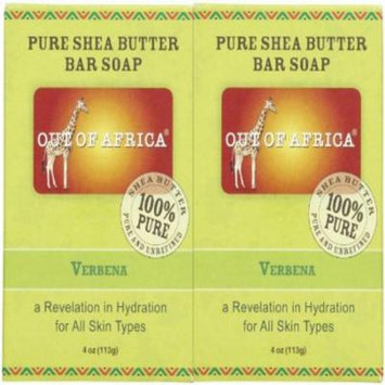Out Of Africa Organic Shea Butter Bar Soap - Verbena - 4 oz - 2 pk