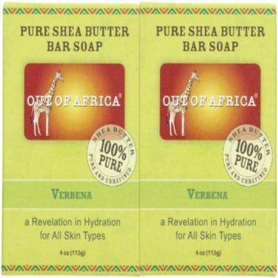 Out Of Africa Organic Shea Butter Bar Soap - Verbena - 4 oz - 2 pk