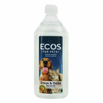 Earth Friendly ECOS For Pets Stain and Odor Remover, 32 oz, 6 Pack