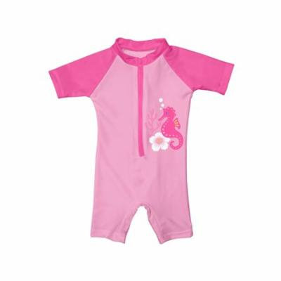 i play. Toddler One Piece Swim Sunsuit, Pink Seahorse, 3T