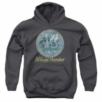 Trevco Little Rascals-He Man Woman Haters - Youth Pull-Over Hoodie - Charcoal, Extra Large