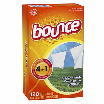 Bounce Fabric Softener Dryer Sheets Outdoor Fresh 120.0 ea(pack of 2)