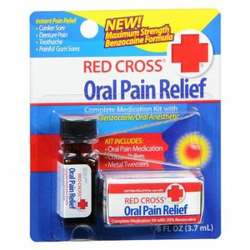 Red Cross Oral Pain Relief Complete Medication Kit 0.13 oz.(pack of 3)