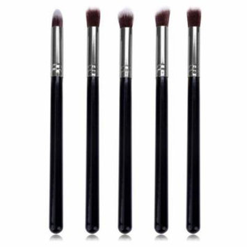 New Pro MakeUp Cosmetic Set Eyeshadow Foundation Wood Brush Blusher Tools 5 PCs CYBST