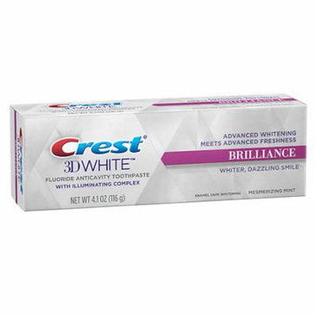 Crest 3D White Brilliance Teeth Whitening Toothpaste Mesmerizing Mint 4.1 oz.(pack of 6)