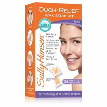 Sally Hansen Ouch-Relief Wax Strips for Face, 24 Count