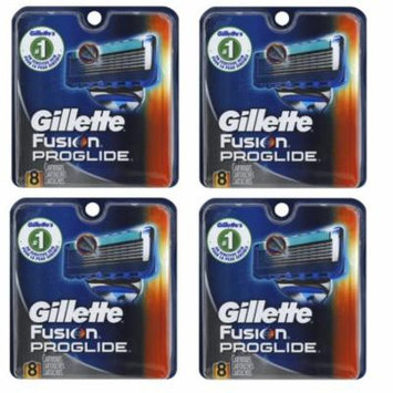 Gillette Fusion ProGlide Refill Cartridge Blades, 32 count , (4 pack of 8) + Old Spice Deadlock Spiking Glue, Travel Size, .84 Oz