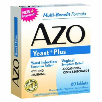 Yeast Plus - Yeast Infection Symptom Relief*: Itching & Burning - Vaginal Symptom Relief*: Occasional Odor & Discharge - Multi-Benefit Formula - 60 Tablets By AZO