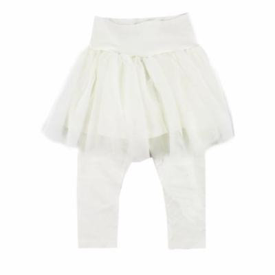StylesILove Toddler Girl Soft Tutu Cotton Legging Pants (80/2T, White)