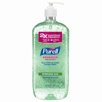 Purell Advanced Hand Sanitizer, Pump, Aloe 33.8 oz(pack of 3)