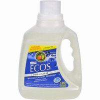 Earth Friendly Ecos Ultra 2x All Natural Laundry Detergent - Free And Clear - Pack of 4 - 100 Fl Oz