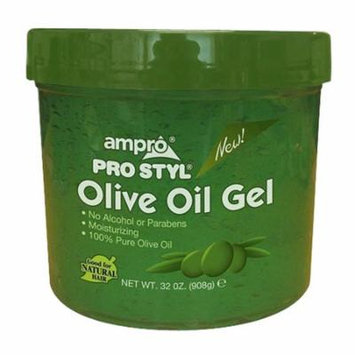 Ampro Pro Styl Olive Oil Hair Styling Gel, 32 Oz, 2 Pack