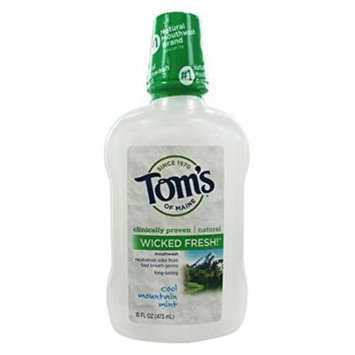 Toms Of Maine 0264606 Cool Mountain Mint Mouthwash, 16 oz