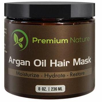 Argan Oil Hair Mask, Deep Conditioner 8 oz, damaged hair Repair, Limited Edition, By Premium Nature