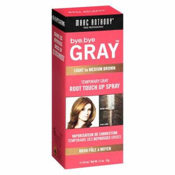 Marc Anthony True Professional Bye.Bye Gray Temporary Gray Root Touch Up Spray, Light to Medium Brown 1.5 oz.(pack of 2)