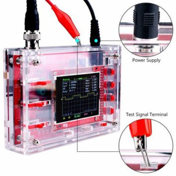 Red & Black Dso138 2.4 Inch Tft Digital Oscilloscope Welded/Diy Parts Kit/Acrylic Case Integrated Circuit