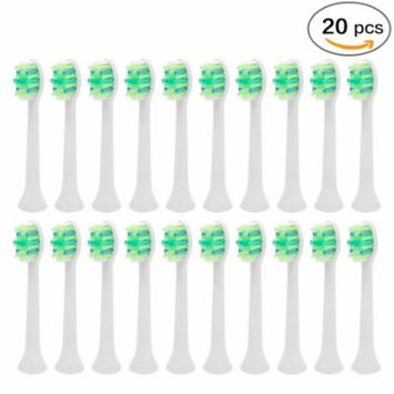 Genkent 20PCS for Philips Sonicare InterCare HX9004 Eletrcic Toothbrush Heads Replacement Brushes Head