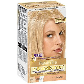 L'Oreal Paris Superior Preference Les Blondissimes Permanent Hair Color, Extra Light Natural Blonde LB02 1.0 ea(pack of 2)