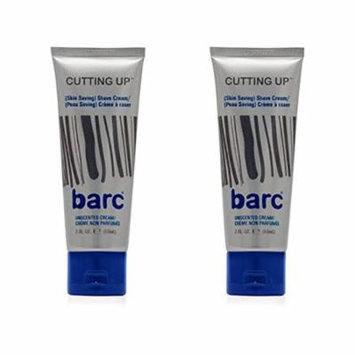 Barc Cutting Up, Unscented Shave Cream, 2 Oz (Pack of 2) + Schick Slim Twin ST for Sensitive Skin