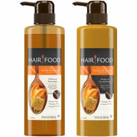 Clairol Hair Food Infused with Honey Apricot Fragrance Shampoo & Conditioner Set 2 pc Pack