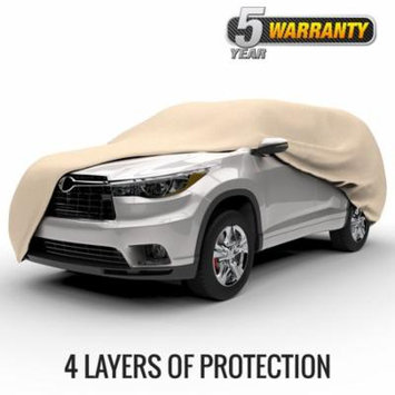 Budge Protector IV SUV Cover, Waterproof Outdoor Vehicle Protection, 4 Layer, Size U-3: Fits up to 229