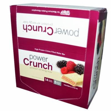 BNRG, Power Crunch Protein Energy Bar, Wild Berry Creme, 12 Bars, 1.4 oz (40 g) Each(pack of 3)